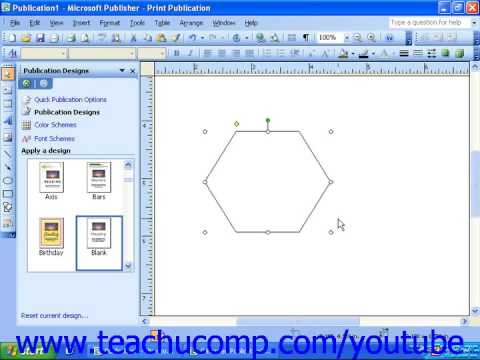 Publisher 2003 Tutorial Inserting AutoShapes and Custom Shapes Microsoft Training Lesson 5.3