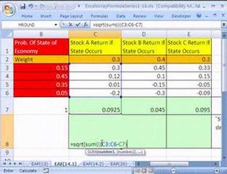Excel Array Formula Series 14.1: Stock Returns