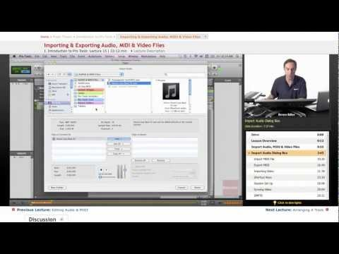 Pro Tools: Importing & Exporting Audio, MIDI & Video Files
