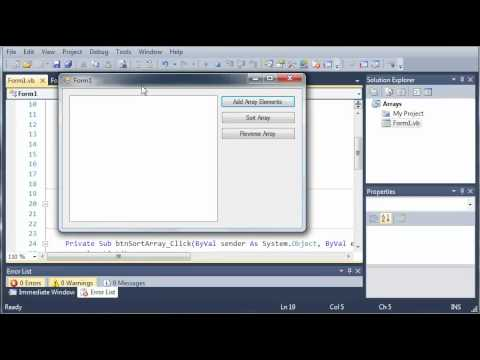 Visual Basic Tutorial - 61 - For Each Loop
