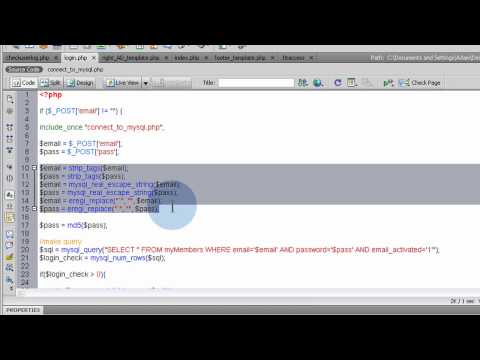 How to Build a Community Web Site Part 6 - Header, Login, & Sessions in Flash PHP Tutorial