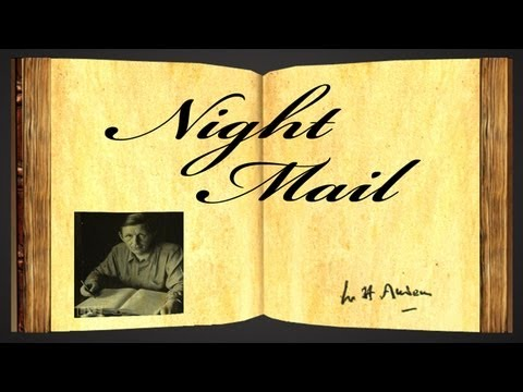 Night Mail by W H Auden - Poetry Reading