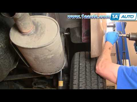 How To Install Replace Rear Shock Absorbers Trailblazer Envoy 1AAuto.com