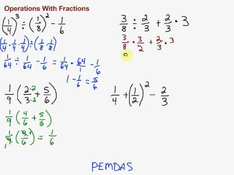Multiple Operations With Fractions