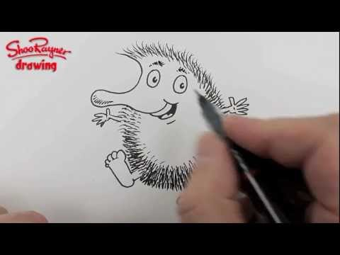 How to draw a Hedgehog