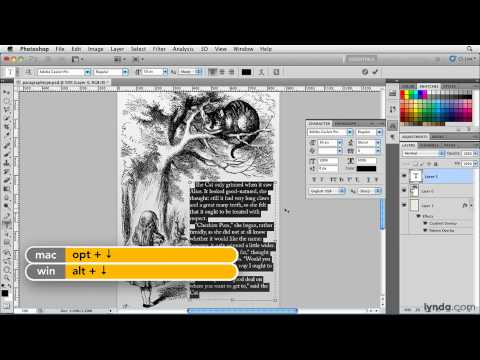 Photoshop: Entering and selecting paragraph type | lynda.com