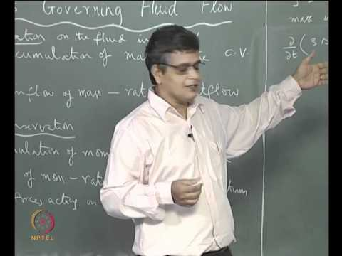Mod-02 Lec-03 Eulerian approach, Conservation Equation, Derivation of Mass Conservation Equation