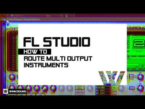 FL Studio: How To Route Multiple Virtual Instrument Outputs | WinkSound