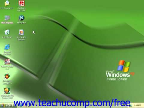 Windows XP Tutorial Creating Desktop Shortcuts Microsoft Training Lesson 2.3