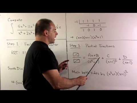 Partial Fraction Integral with Linear and Quadratic Factors