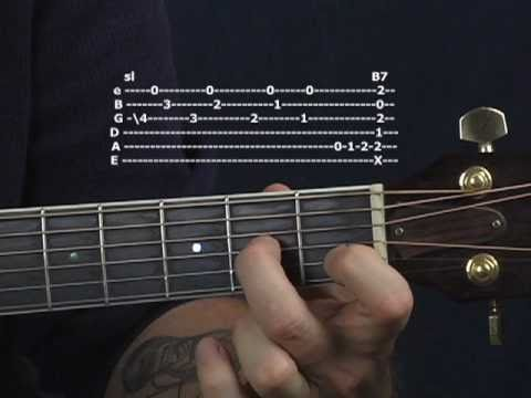 Blues guitar lesson on the turnaround lick2 acoustic or electric