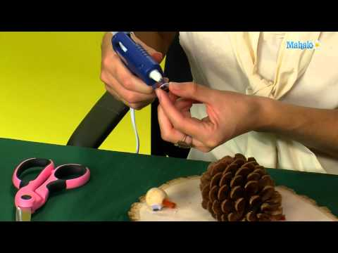 How to Make a Thanksgiving Pinecone Turkey