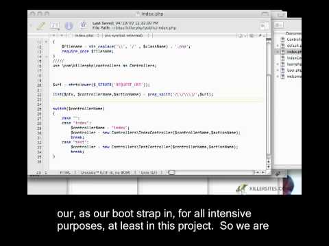 Advanced PHP Closed Captioned - Passing Parameters Around our MVC Application