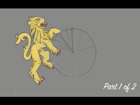 1 Draw Concept Dragon Lion Anime Monster