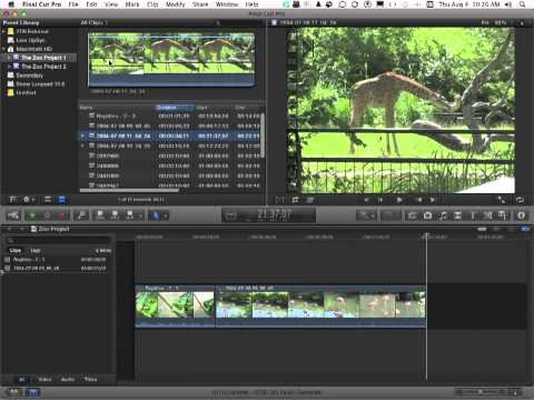 Apple Final Cut Pro X Tutorial -  Append and Insert