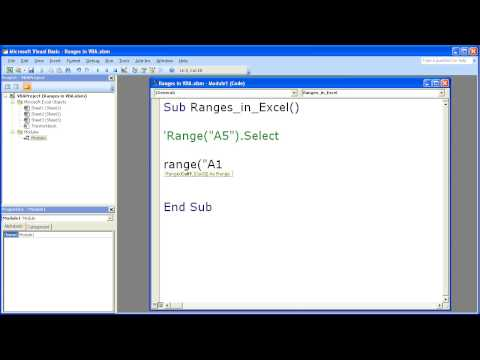 Excel Macro VBA Tip 2 - Using The Range Property to Select Cells in Excel