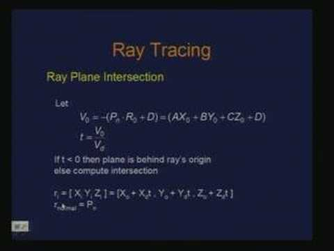 Lecture - 24 Ray Tracing
