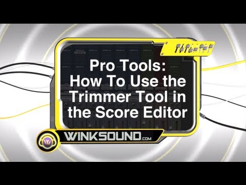 Pro Tools: How To Use the Trimmer Tool in the Score Editor