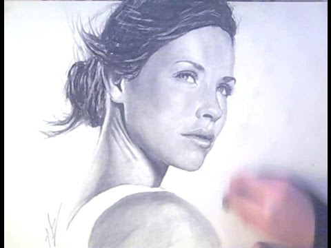 Original Kate from lost charcoal portrait speed drawing