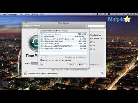 Time Machine Preferences - Mac OS X Leopard