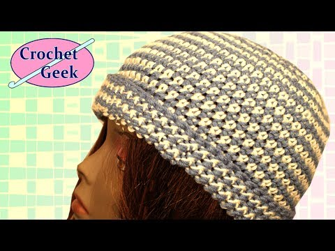 Crochet Geek - Stripe Crochet Beanie Cap Hat