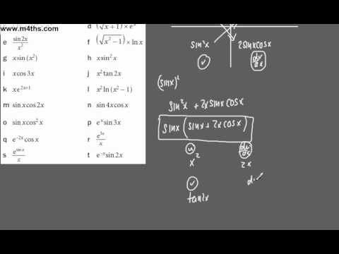 (3) Core 3 - Revision of differentiation techniques (Chain and Product rule)