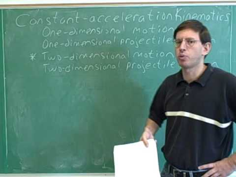 Physics: Two-dimensional kinematics (1)