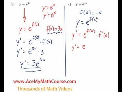 Derivatives of Exponential Functions - Question #2