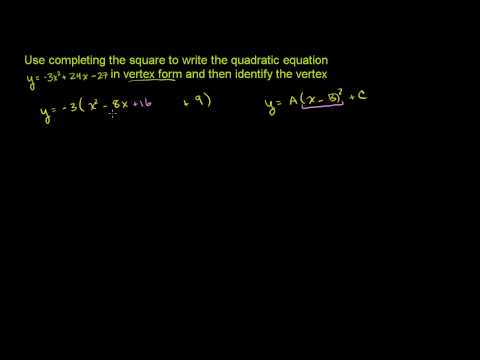 Completing the Square 3