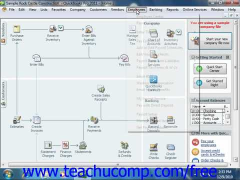 QuickBooks 2011 Tutorial Adjusting Payroll Liabilities Intuit Training Lesson 20.10