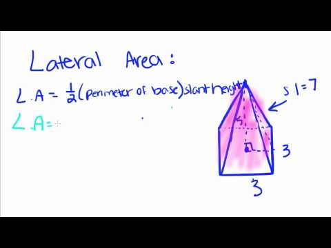 Geometry - 19 - Pyramids - Volume, Lateral Area, and Total Area