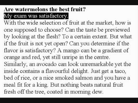 Learn American Accent English Lesson #60 Watermelons!