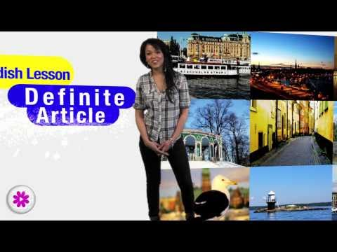 Swedish lesson 5 - definite articles