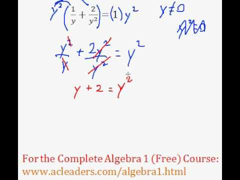 (Algebra 1) Rational Expressions - Solving an Equation #8