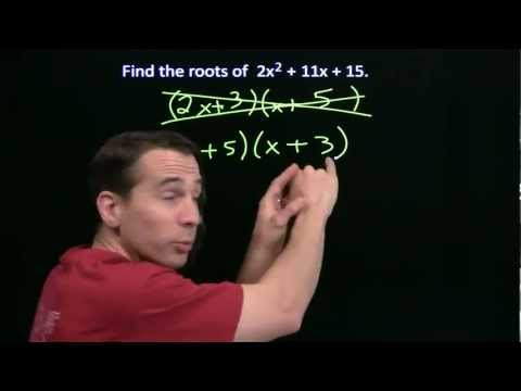 Art of Problem Solving: Factoring Quadratics Part 2