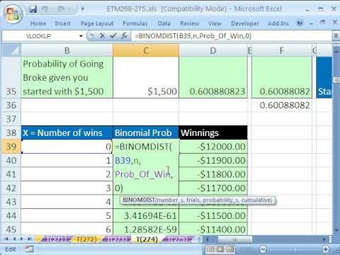 Excel Magic Trick # 274: Probabilities Binomial Distribution