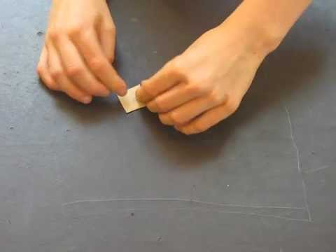How to fold an origami hockey puck designed by Michael Anton