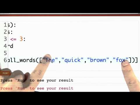 Small Words Solution - CS262 Unit 3 - Udacity