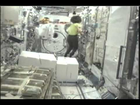 Station Crew Unpacks Robonaut 2