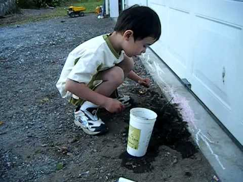 Kid's Mud Hold Turns Into Sink Hole (1:40)
