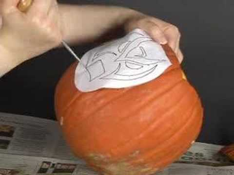 How To Carve A Pumpkin: Stencil Transfer