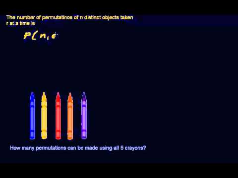 Permutations and Combinations - (Part 3) - Permutation Formula