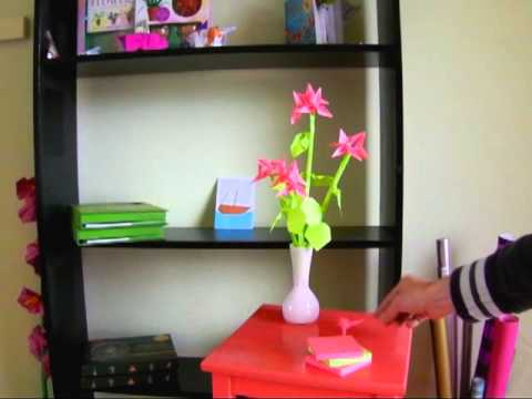 Sticky Note Origami Flower