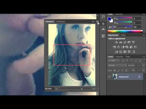 Photoshop Tutorial - 7 - Navigation Panel and Zoom Tool