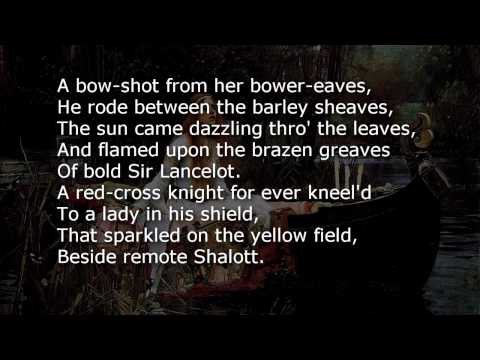 The Lady of Shalott  ~ poem with text
