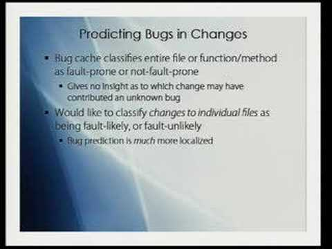 Predicting bugs in code changes using SCM information