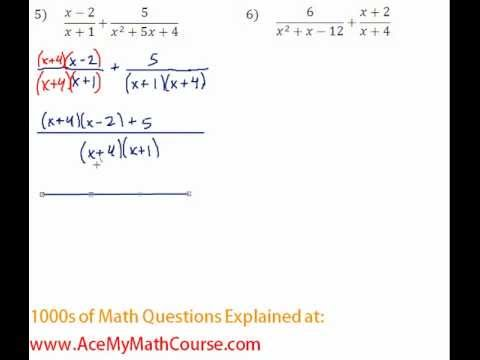 Rationals - Adding Rational Expressions Question #5