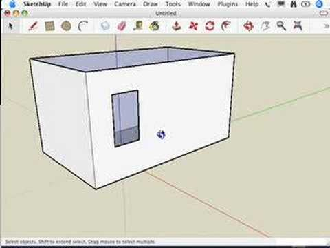 SketchUp: Making your own doors and windows
