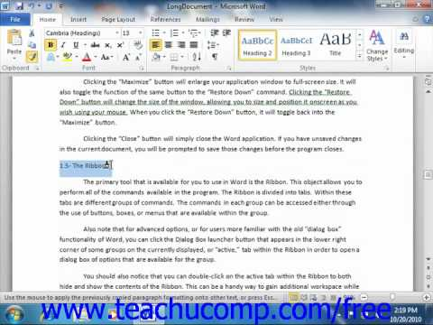 Word 2010 Tutorial The Format Painter Microsoft Training Lesson 5.3