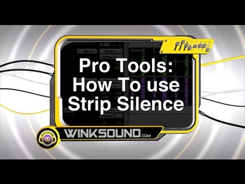 Pro Tools: How To Use Strip Silence | WinkSound